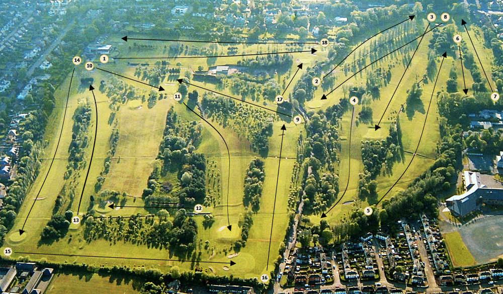 Aerial Photograph of the course